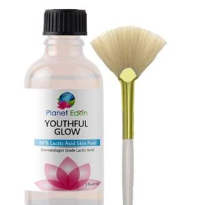 Intense Repair 88% Lactic Acid Skin Peel with Free Fan Brush - Unbuffered Professional Grade - Revive Sun Damaged Skin Quickly