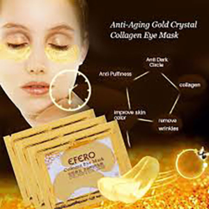 2 PCS=1 BAGS GOLD CRYSTAL COLLAGEN PROTEIN EYE MASK ANTI-WRINKLE MOISTURIZING REMOVE DARK CIRCLES FACIAL CARE NATURAL EYE PATCH